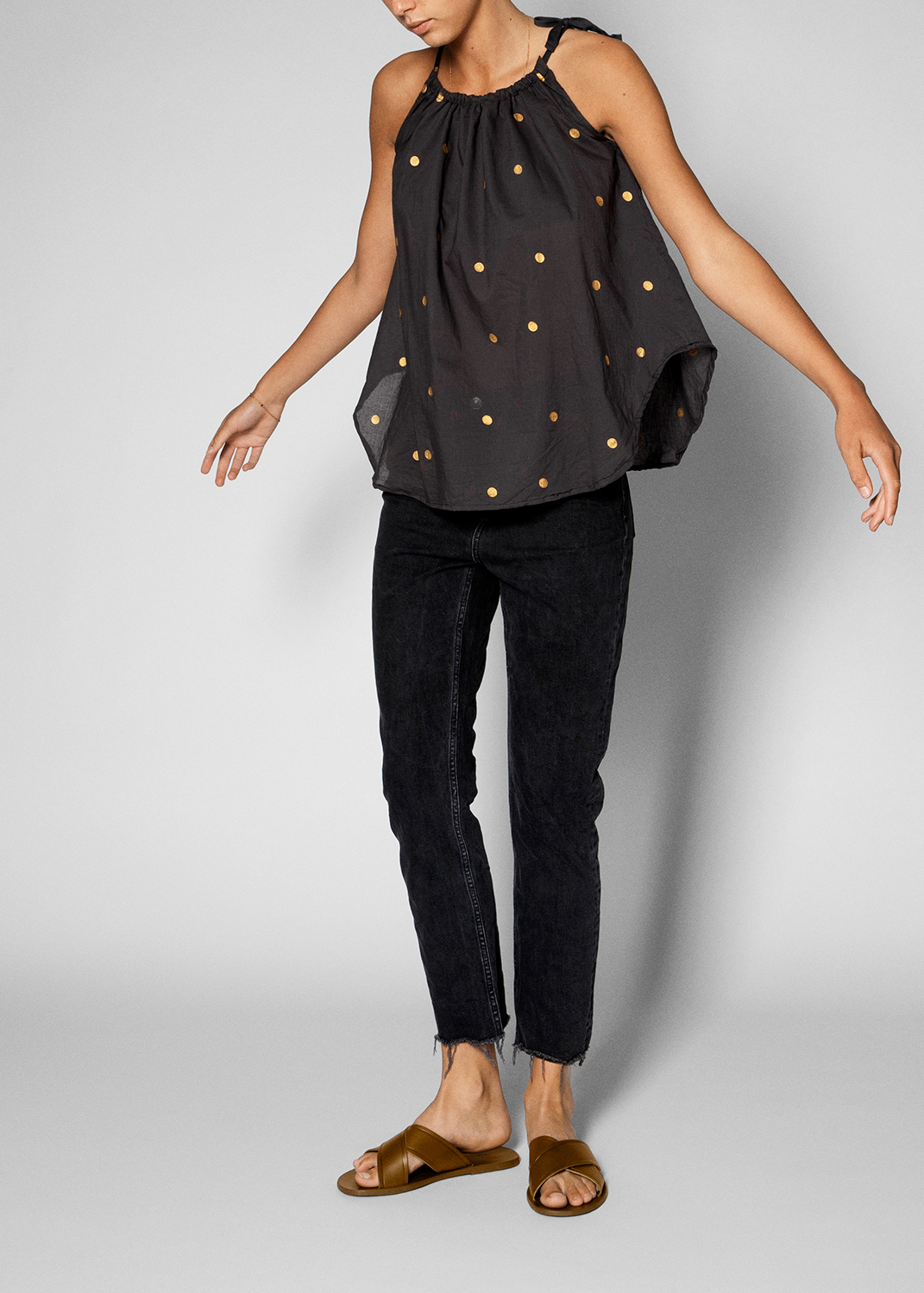 Blouses & Tees - Golden Dot Top Thumbnail