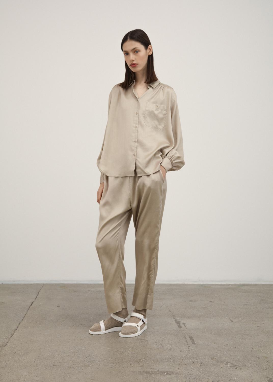 Shirts - Anna Long Sleeve Silk  Thumbnail