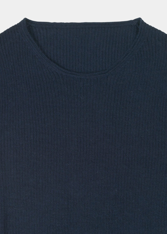 Knits - Madigan Cashmere Rib Blouse Thumbnail