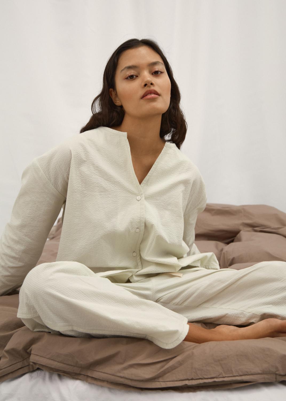 Sleepwear - Schlafanzug Seersucker Thumbnail