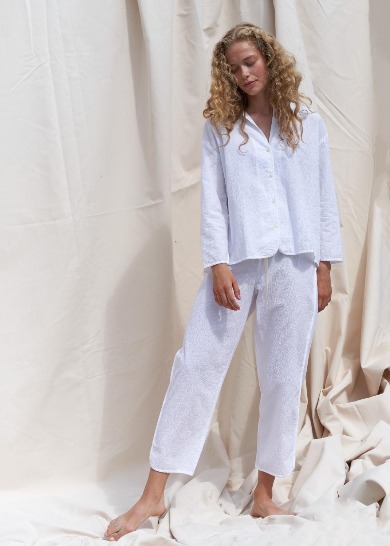 Loungebekleidung - Schlafanzug Seersucker Thumbnail