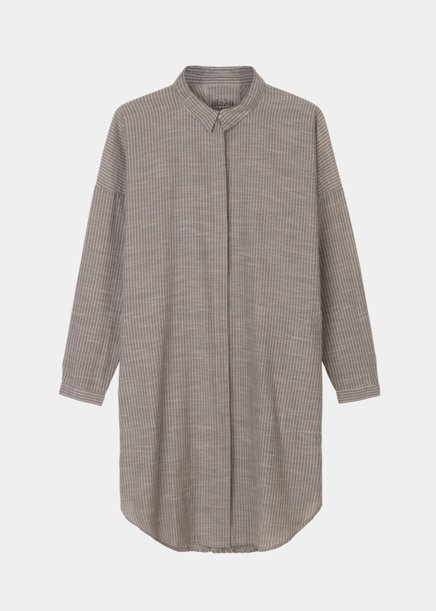 Kjoler & nederdele - Shirt Dress Striped Thumbnail