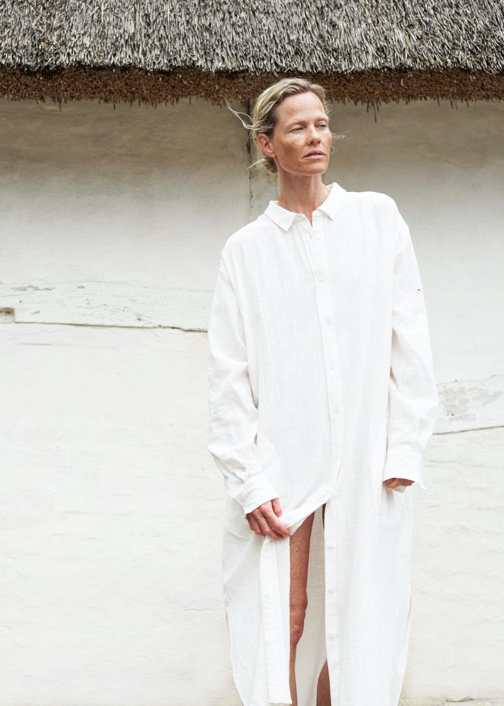 Dresses & Skirts - Shirt Robe Crepe Thumbnail