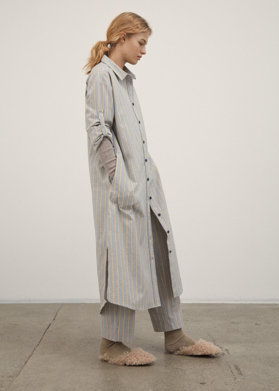 Kjoler & nederdele - Shirt Robe Slub Thumbnail