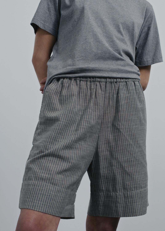 Pants & Shorts - Shorts Long Striped Thumbnail
