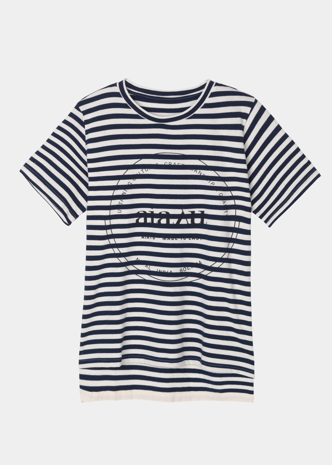 Blouses & Tees - Printed Striped Tee Thumbnail