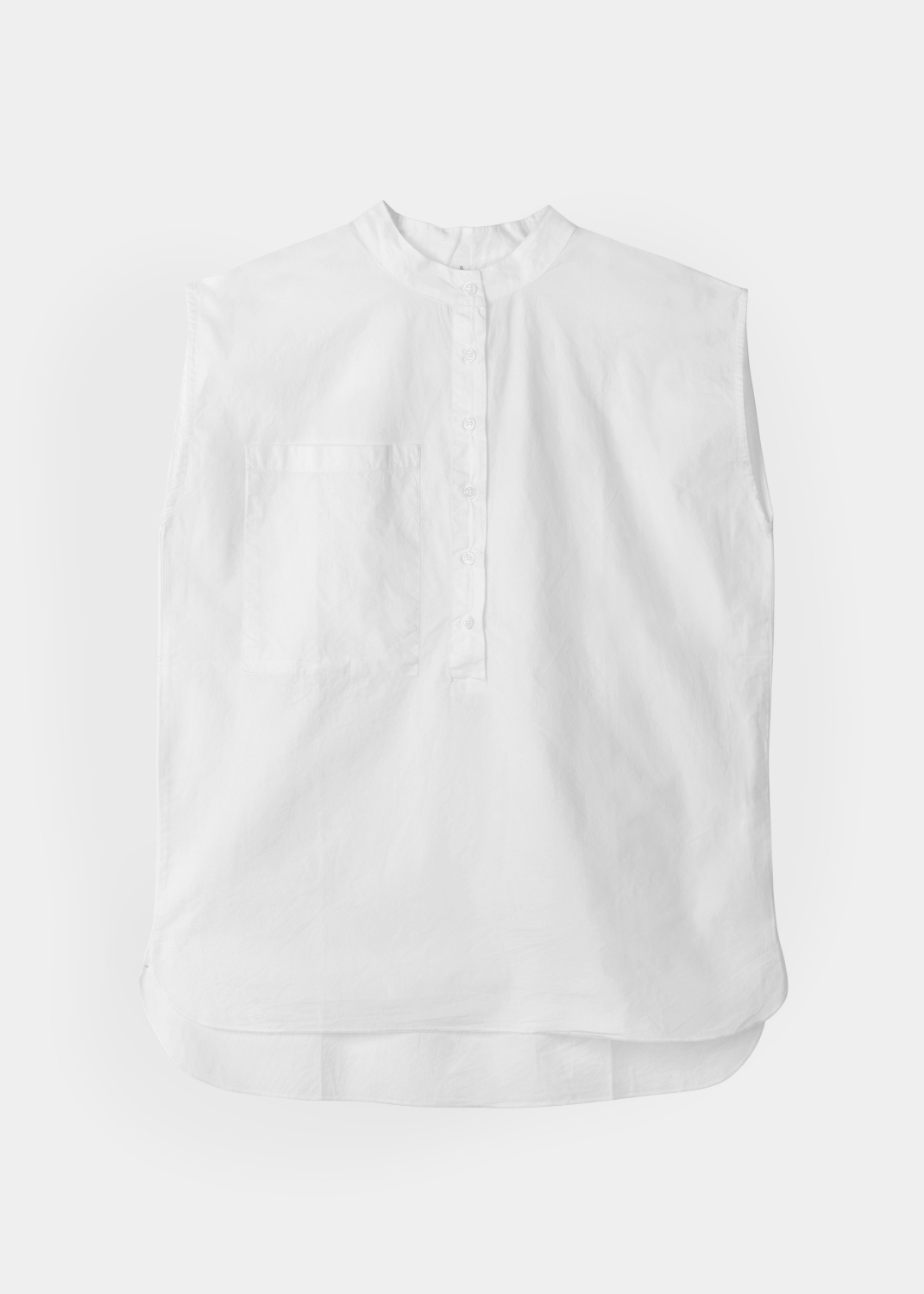 Blouses & Tees - Sleeveless Shirt Poplin