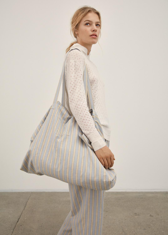 Clutches & Bags - Totebag Striped Slub Thumbnail